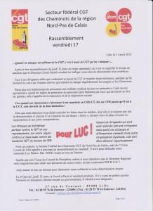 appel rassemblement pour LUC